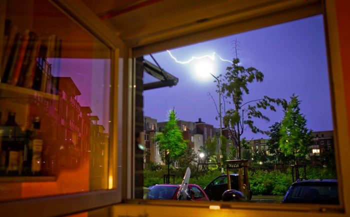 Lightning at Kitchen Window