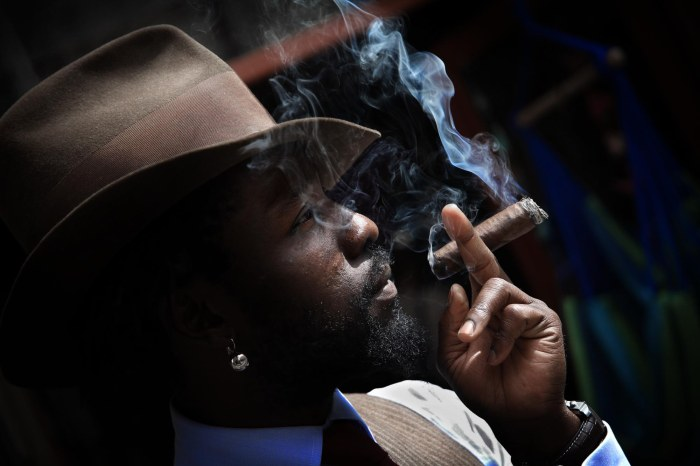 A Man, a Hat and a Cigar