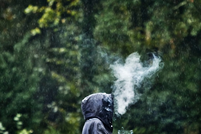 Smoking in the Rain